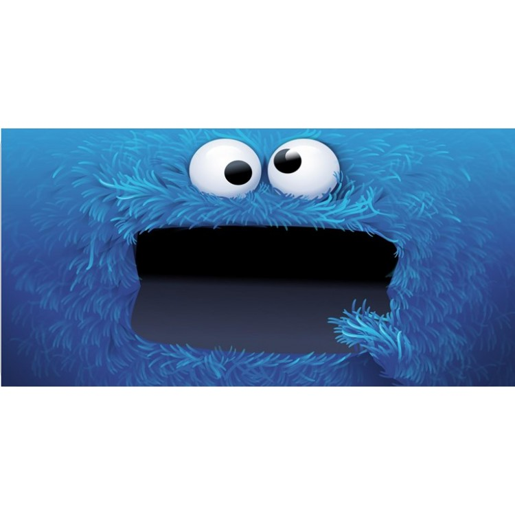 Cookie Monster Full Photo License Plate