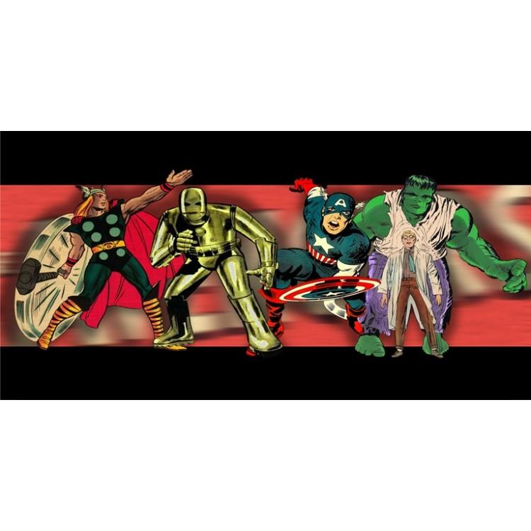 Vintage Avengers Photo License Plate