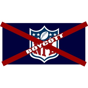 Boycott NFL #2 Photo License Plate