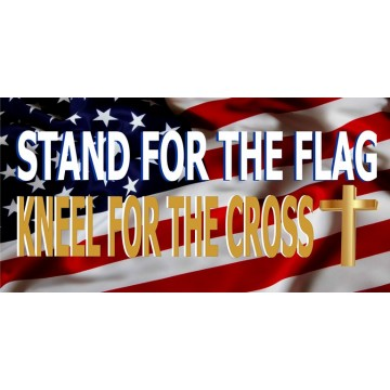Stand For The Flag Photo License Plate