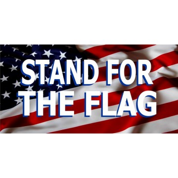 Stand For The Flag #2 Photo License Plate