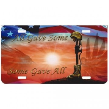 All Gave Some Some Gave All Photo License Plate