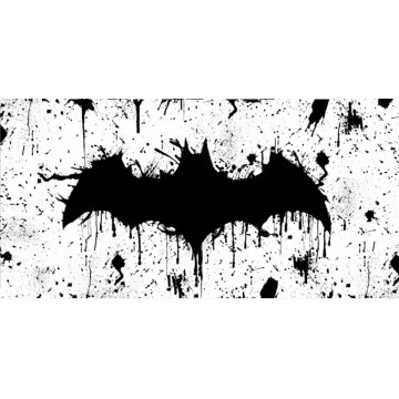 Batman Splattered Photo License Plate
