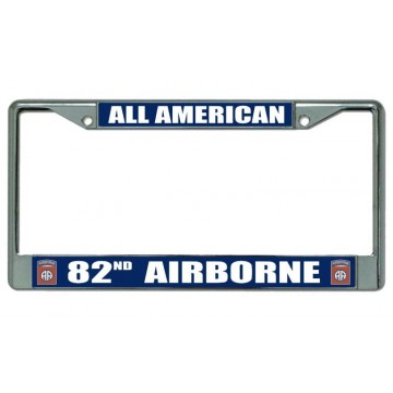 All American 82nd Airborne Chrome License Plate Frame