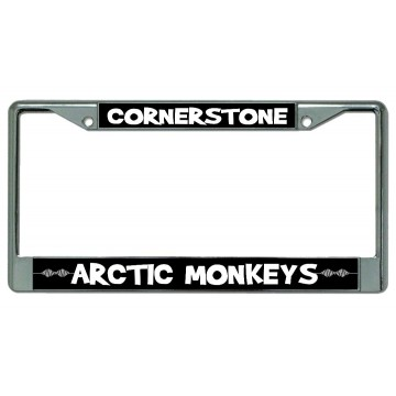 "Arctic Monkeys ""Cornerstone"" Chrome License Plate Frame"