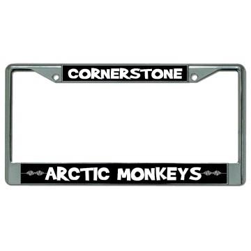 "Arctic Monkeys ""Cornerstone"" Chrome License Plate Frame"