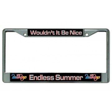 "Beach Boys ""Endless Summer"" Chrome License Plate Frame"