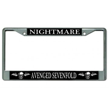 """Avenged Sevenfold """"Nightmare"""" Chrome License Plate Frame"""