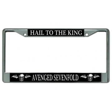 """Avenged Sevenfold """"Hail To The King"""" Chrome License Plate Frame"""