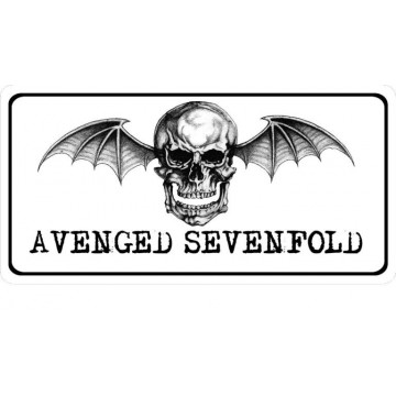 Avenged Sevenfold Logo Photo License Plate