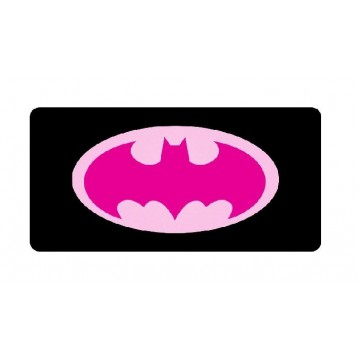 Batman Pink Logo Photo License Plate