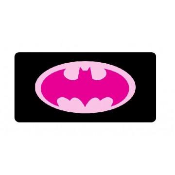 Batman Pink Logo Photo License Plate