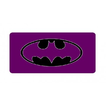 Batman Purple Logo Photo License Plate