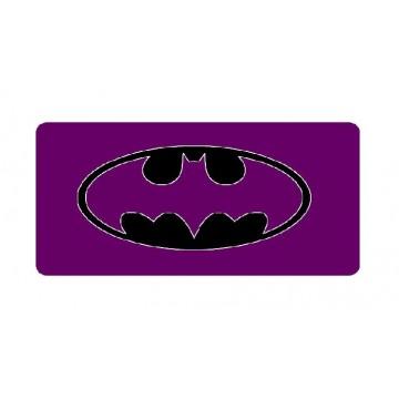 Batman Purple Logo Photo License Plate
