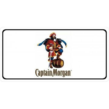 Captain Morgan On White Photo License Plate
