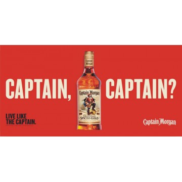 Captain Morgan Live Like The Captain Photo License Plate