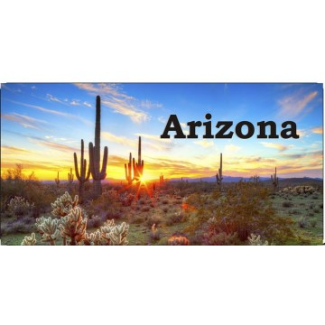 Arizona Desert Sunset #2 Photo License Plate