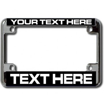 """Design Your Own"" Chrome Motorcycle License Plate Frame"