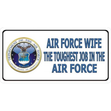 Air Force Wife Photo License Plate