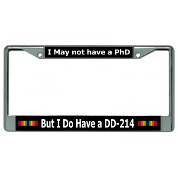 DD-214 Chrome License Plate Frame