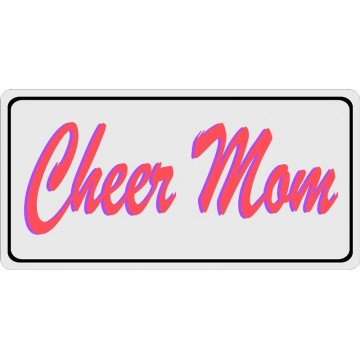 Cheer Mom Photo License Plate