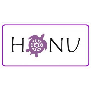 Honu Sea Turtle Photo License Plate