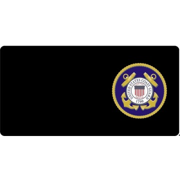 Department Of The Coast Guard Offset Photo License Plate