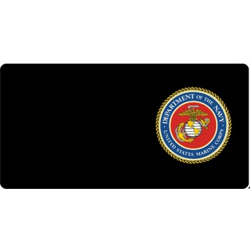 Department Of The Navy Marine Corps Offset Photo License Plate