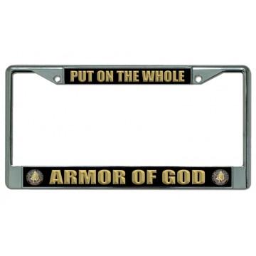 Armor Of God Chrome License Plate Frame