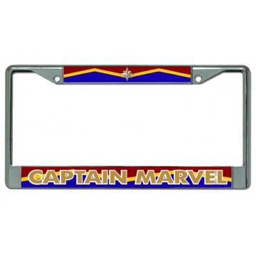 Captain Marvel Chrome License Plate Frame