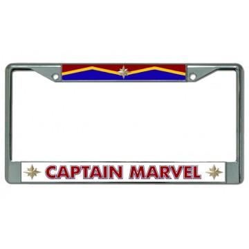 Captain Marvel #2 Chrome License Plate Frame