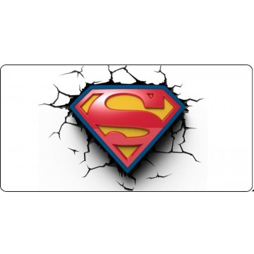 Superman Logo #3 Photo License Plate