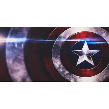 Captain Marvel Shield Photo License Plate