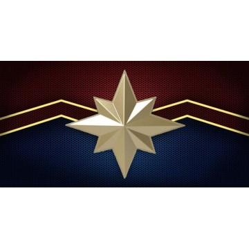 Captain Marvel Logo Centered Photo License Plate