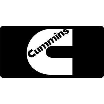 Cummins Logo On Black Photo License Plate