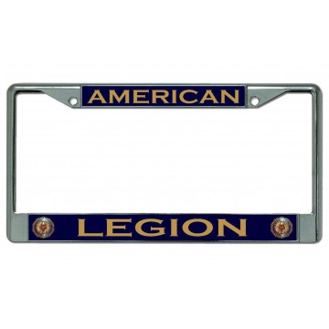 American Legion #3 Chrome License Plate Frame