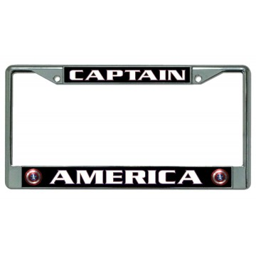 Captain America #2 Chrome License Plate Frame