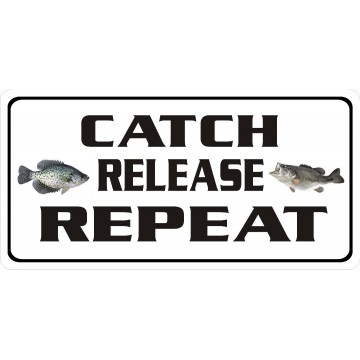 Catch Release Repeat Photo License Plate