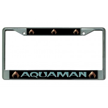 Aquaman Chrome License Plate Frame