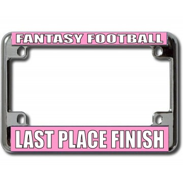 Fantasy Football Last Place Chrome Motorcycle License Plate Frame