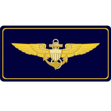 Naval Aviator Photo License Plate