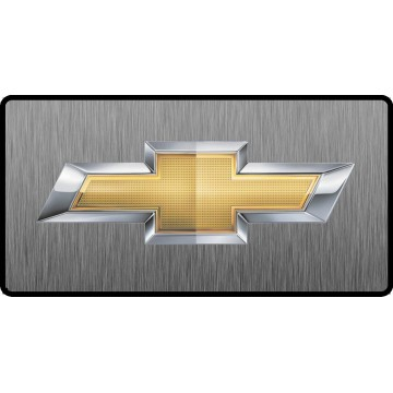 Chevrolet Bowtie Logo 3D Look Flat Photo License Plate