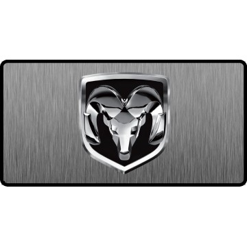 Dodge Ram Logo #2 3D Look Flat Photo License Plate