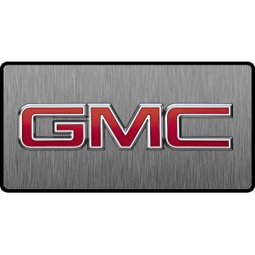 GMC Red Logo 3D Look Flat Photo License Plate