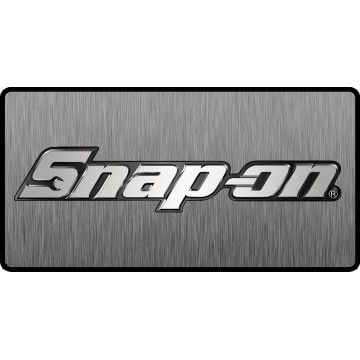 Snap-On Logo 3D Look Flat Photo License Plate