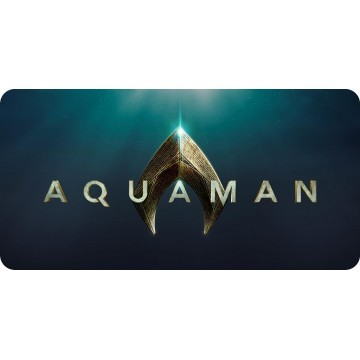 Aquaman Script With Logo Photo License Plate