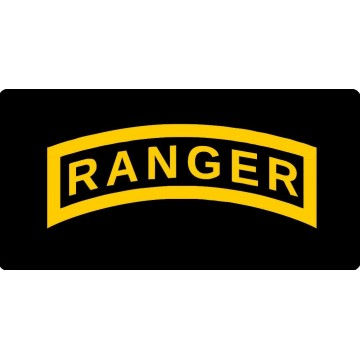 Army Ranger Photo License Plate