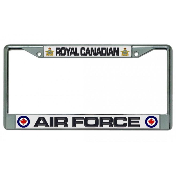Royal Canadian Air Force Chrome License Plate Frame