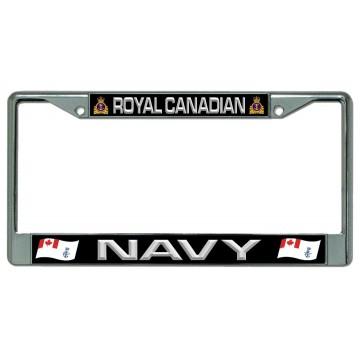 Royal Canadian Navy Chrome License Plate Frame