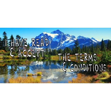 I Have Read & Accept The Terms & Conditions Photo License Plate